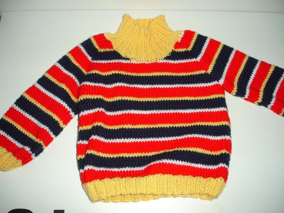 Knitted Ernie sweater for Toddler - 3T - ready to ship