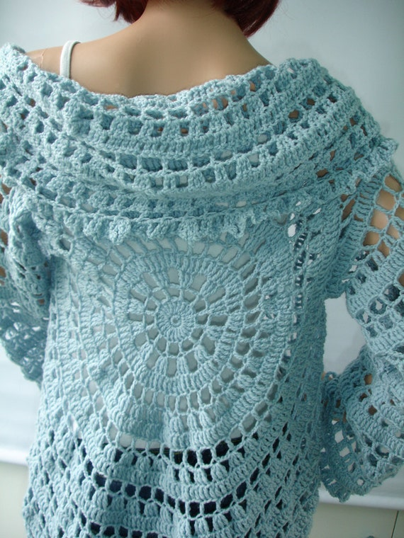 Crocheted lace jacket - ready to ship