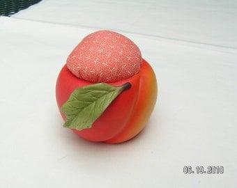 Peach Shaped Pin Cushion