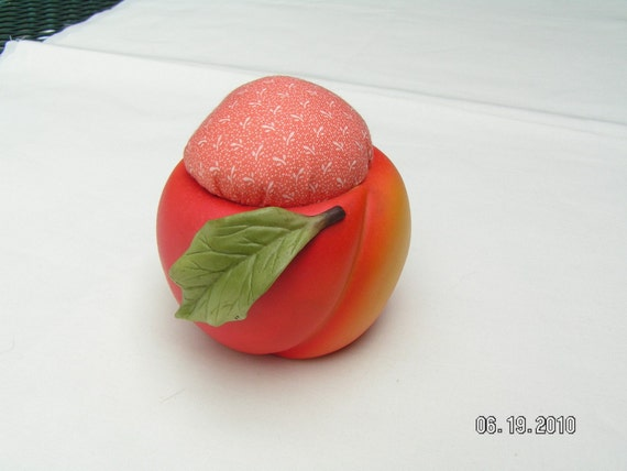 Peach Shaped Pin Cushion
