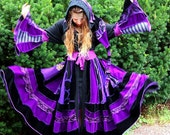 Upcycled SnugglePants Sweater Coat with a Medieval Liripipe Hood and Bell Sleeves- Upcycled- Custom