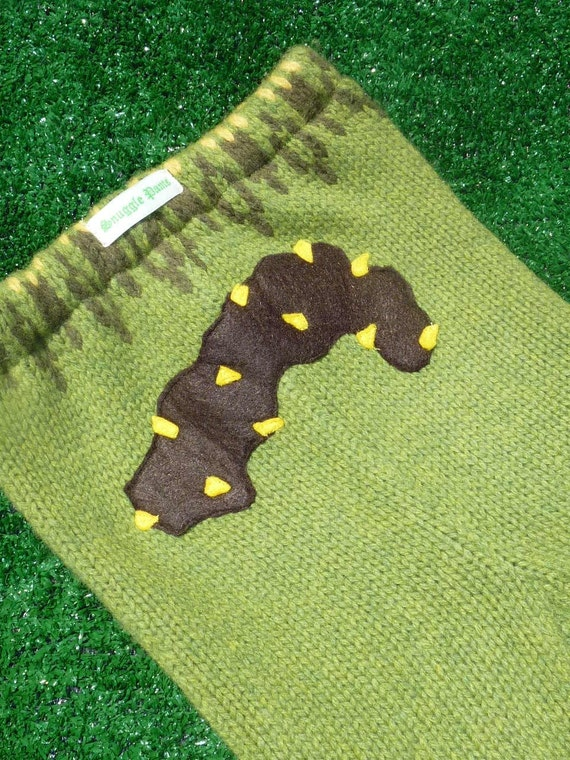 Corn Poop Soap Longies/ Upcycled Lambswool Sweater Pants- Handmade Applique by SnugglePants