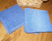 Recycled Denim Squares Quilts 6 1/2 inches 50 count