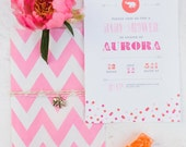 Luxe Circus Shower Printable Invitation