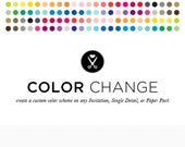 Color Change for Invitations, Digital Papers, & Single Party Details ONLY