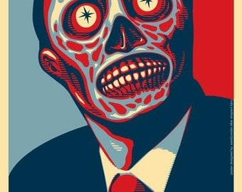 "THEY LIVE ""obey"" poster 11 x 17"