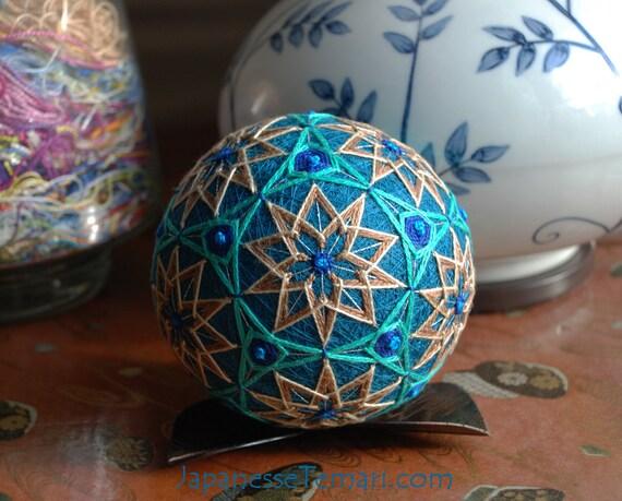 Silk Emerald Isle home decor Japanese temari