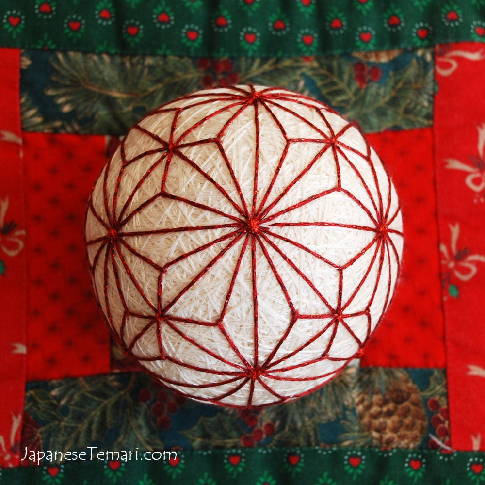 Temari Ball Ornament Christmas Light Japanese Temari