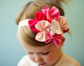 SWEET as Sugar snugar HEADBAND hair head wrap band baby infant newborn girls PINK