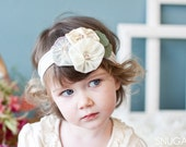 Classy Silk Poppies snugars HEADBAND hat cap hair band head wrap newborn infant toddler girls