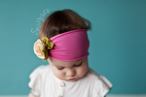 Strawberry Lemonade Petite Rose -Snugars Headband