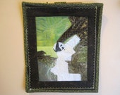 Panda in the Jade, a small wall quilt