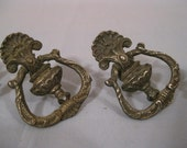 SALE..4 Antique Victorian Ornate Metal Pulls