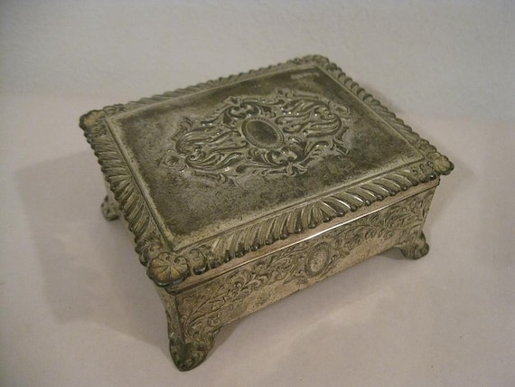 Vintage Richbarry Silver Plated Ornate Humidor