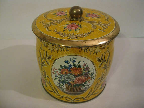 Vintage Daher Tin Metal Container  ( 2167 )