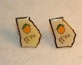 SALE Stud, Post Earrings, Vintage State of Georgia From Athens, Georgia