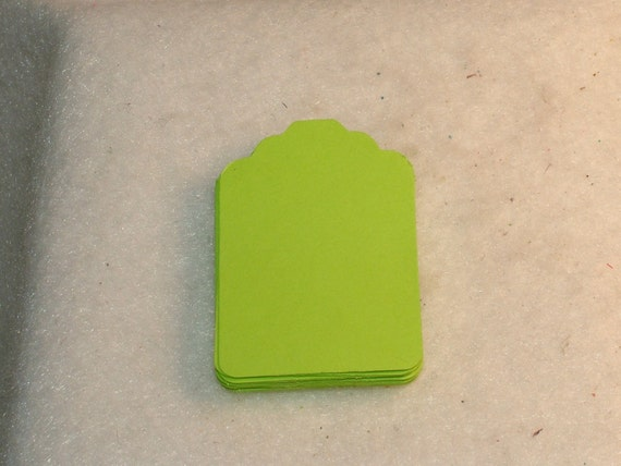 Tag, Gift Tag, Earring Tag Set of 20, 2 Sets to Choose From, Bright Colors, Lime, Yellow