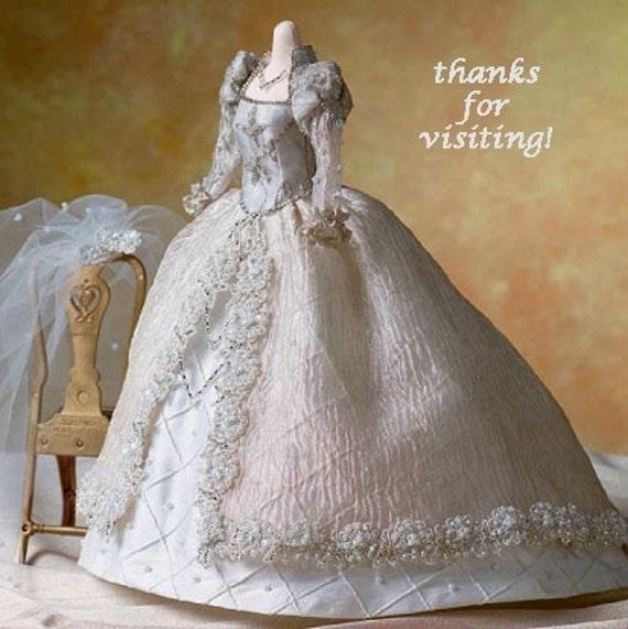 BRIDAL GOWN Doll Sewing Pattern ALICYN WRIGHT Dolls Wedding
