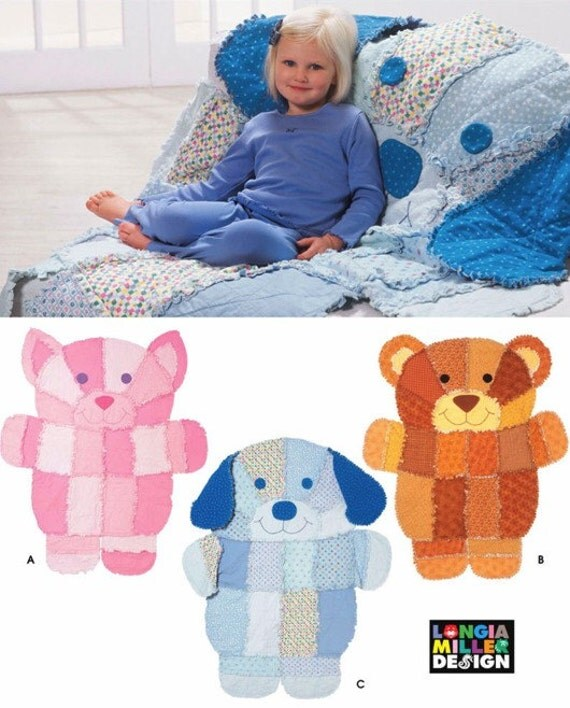 Rag Quilt Sewing Pattern Dog Cat Teddy Bear Quilts Deal Of