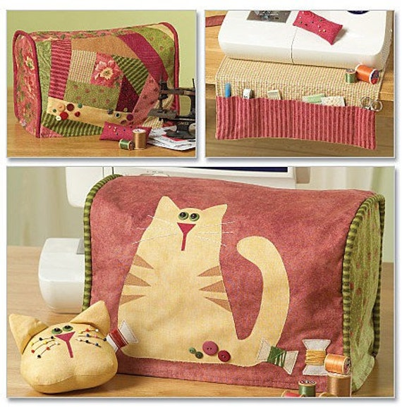 Cat Sewing Machine Cover Pattern Cats Covers Pin Cushion