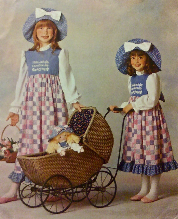 Girl S Dress Hat Sewing Pattern Holly Hobbie Costume