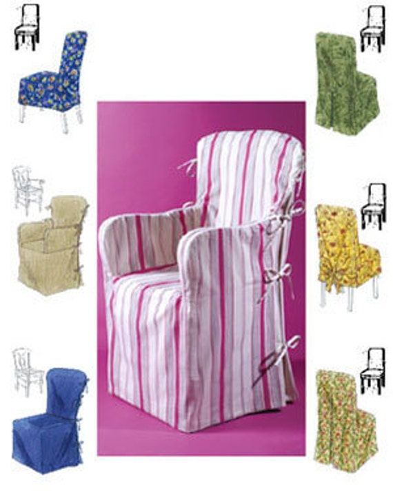 Chair Cover Sewing Pattern 6 Chair Covers Armchair Dining