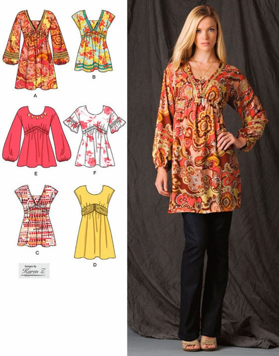 Sewing Patterns Tunic Tops Tops Sewing Pattern Mini