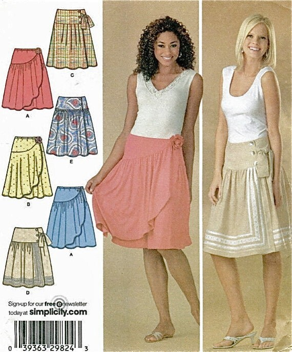 SKIRT Sewing Pattern Misses Knit & Woven PLUS SIZE Skirts