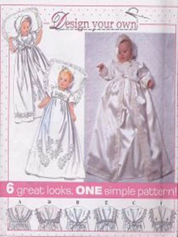 Baby Christening Sewing Pattern Babies Gown Coat Amp Bonnet