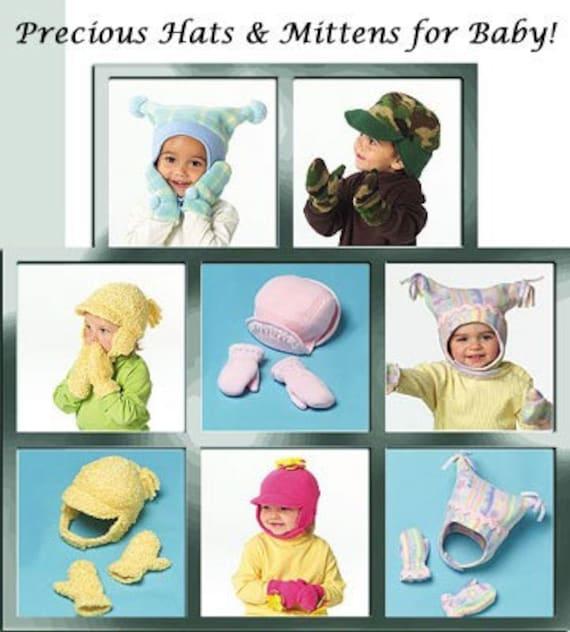 Fleece Hats Mittens Sewing Pattern Baby Winter Hat Mccalls