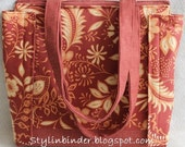 2 Inch Stylin' Binder Bag, Terra Cotta Flourish Coupon Organizer