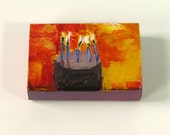 Matchbox Original Miniature Painting (Cake in Yellow)