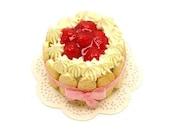Strawberry  Charlotte Cake - Dollhouse Miniature Food Handmade