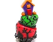 Halloween Whimsical Cake  - Dollhouse Miniature Food Handmade
