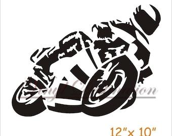 Motorcycle Decal Digital file