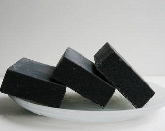 Unscented Activated Charcoal Soap Bar  - Natural Soap - Charcoal Soap