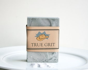 TRUE GRIT Soap, Mens Soap, Fathers Day Gift, Handmade Soap, Husband Gift Soap, Exfoliating Soap