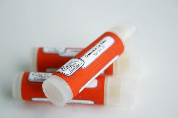 Creamsicle Lip  Balm - Natural Lip Balm - Orange Vanilla Lip Balm