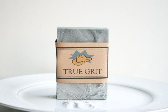 TRUE GRIT Soap, Mens Soap, Handmade Soap, Husband Gift Soap, Exfoliating Soap