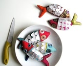 pesce d'aprile - fish brooch - MADE TO ORDER