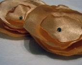 Golden Tangerine Poppy Hair Pins