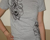 Peacock Feather American Apparel Tee Sz S, M, L- PRICE REDUCED
