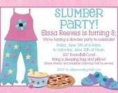 Slumber Party Birthday Invitation -- DIY Print it Yourself