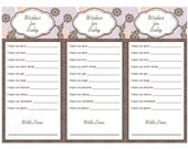 Baby Shower Game or Favor Printable -- Wishes for Baby