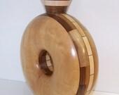 Maple and Walnut Donut Vase 585