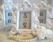 15 FaBuLoUS-Small Ornate Vintage Style High Gloss Picture Frames-Chalkboard Vinyl-15 Vintage Table Numbers-5 Colors-Wedding-Reception-Decor