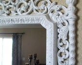 Romantic Baroque Ornate Vintage Frame Wall Mirror & Chalkboard-Magnetic Chalkboard-AnY CoLor-White-Memo Board-Wedding-Signs-Nursery