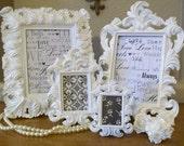 Set of 4 Wedding Table Numbers Frames-White or Black-Ornate Vintage Baroque Frames-Chalkboard Signs-Chalkboard Vinyl-Wedding-Picture Frames