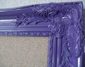 FRAMED Cork Board-PURPLE-Any Color-42x30 Xtra Lg Ornate Vintage Framed Bulletin Board-Memo Board-Magnetic Chalkboard-Wedding-Seating Chart
