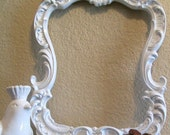 Baroque Ornate Vintage Frame-Photo Frame-8x10-Picture Frame-White-Any Color-Blackboard-Chalkboard-Baroque Frame-White-AnY Color-Mirror